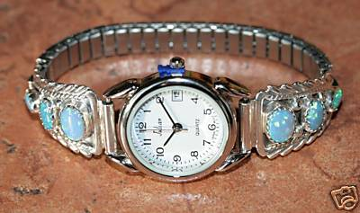 Navajo Created Opal Ladies Watch by Robert Brown