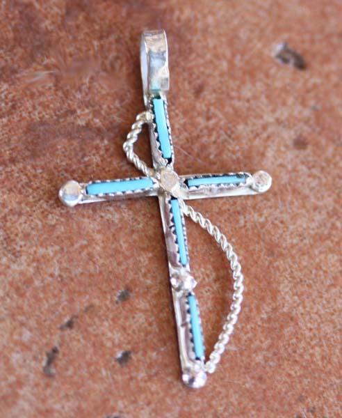 Navajo Turquoise Cross Pendant