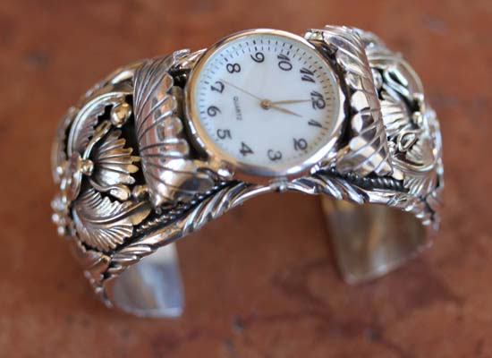 Navajo Silver Men's Watch Bracelet