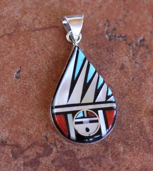 Zuni Native American Multi_Stone Pendant
