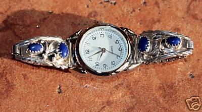 Navajo Lapis Ladies Watch by Robert Brown