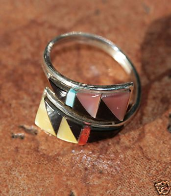Zuni Multi_Stone Ring Size 6_9 by Cena