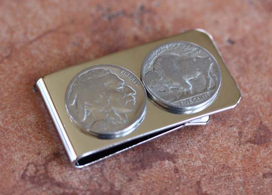 Handmade Buffalo Nickel Money Clip