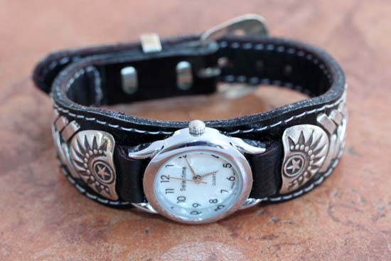 Navajo Native American Leather Womens Watch