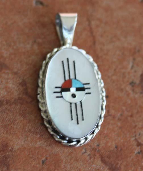 Zuni Native American Sunface Pendant