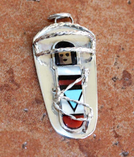 Zuni Silver Baby Pendant by AD Chavez
