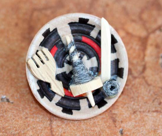 Navajo Woven Plate Pin
