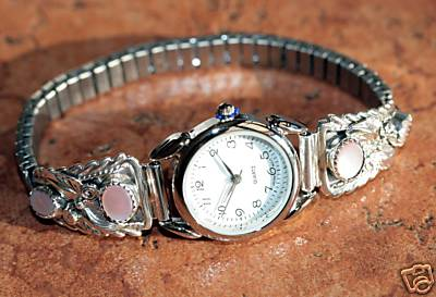 Navajo Mother of Pearl Ladies Watch by Robert Brown