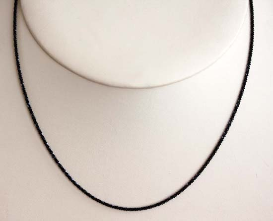 925 18 Inch Long Black Sterling Silver Chain