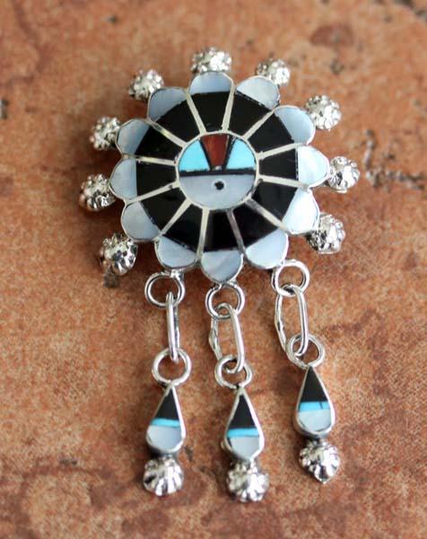 Zuni Silver Sunface Pin/Pendant