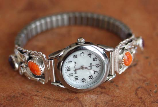 Navajo Spiny Oyster Ladies Watch by Robert Brown