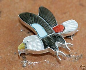 Zuni Multi_Stone Inlay Pin/Pendant