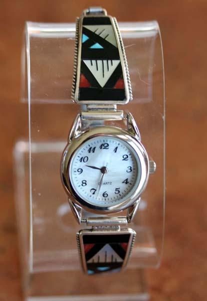 Zuni Silver Multi_Stone Ladies Watch