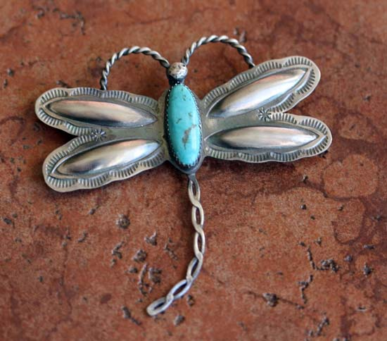 Navajo Turquoise Dragonfly Pin