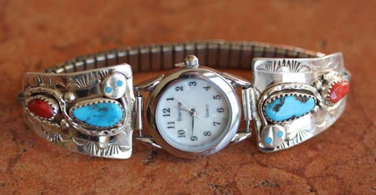 Zuni Turquoise Women's Watch by Effie C.