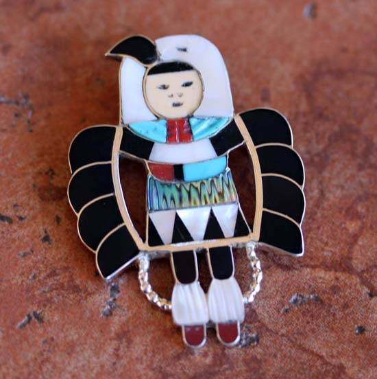 Zuni Silver Dancer Pin/Pendant