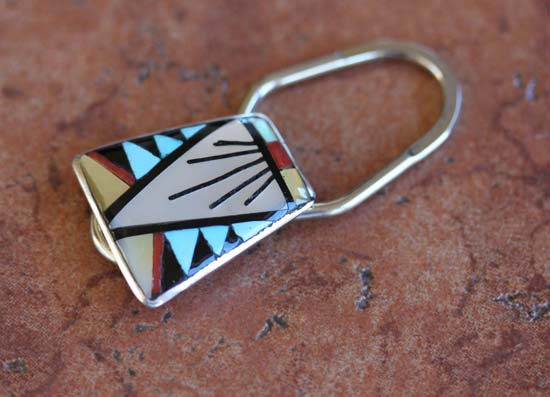Zuni Multi_Stone Key Chain