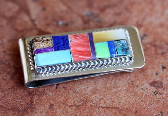 Navajo Multi_Stone Money Clip