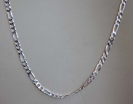 925 Sterling Silver 24 Inch Long Men's Chain