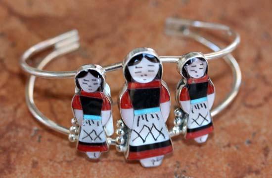 Zuni Silver Multi_Stone Maiden Bracelet