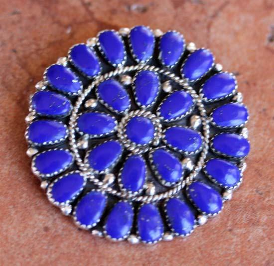 Navajo Lapis Cluster Pin/Pendant