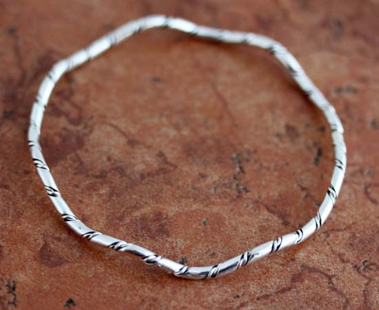 Navajo Sterling Silver Bangle Bracelet