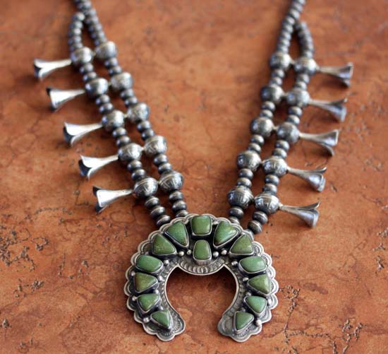 Navajo Old Pawn Style Turquoise Necklace by R Beard