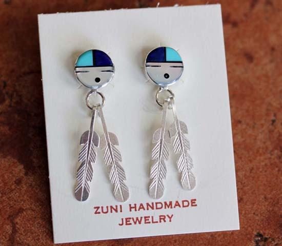 Zuni Silver Sunface Earrings