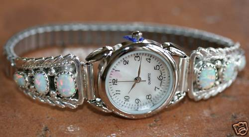 Navajo Created Opal Ladies Watch by Rose Yazzie