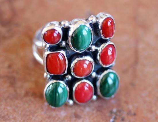 Nakai Navajo Multi_Stone Ring Size 5 1/2