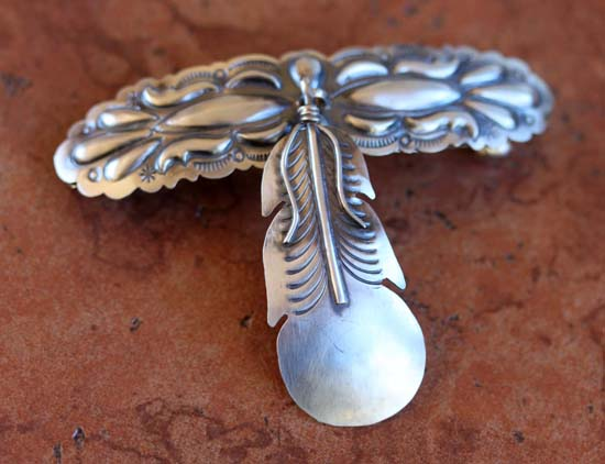 Navajo Silver Feather Barrette