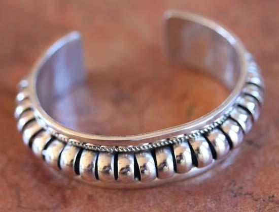 Navajo Native American Sterling Silver Bracelet