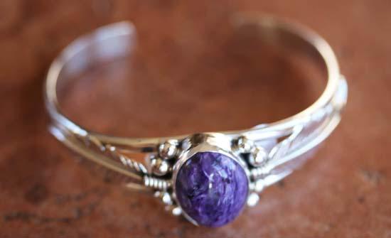 Navajo Silver Charoite Bracelet