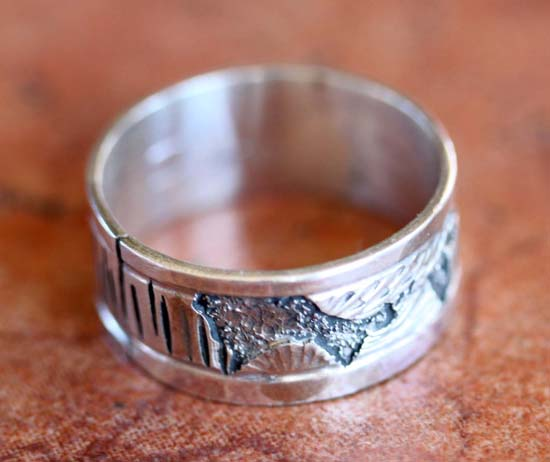 Navajo Silver Men's Ring Size 11 1/2