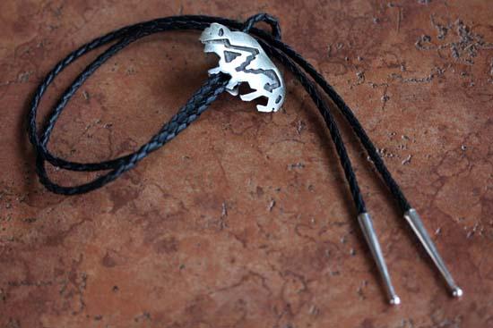 Navajo Sterling Silver Buffalo Bolo Tie