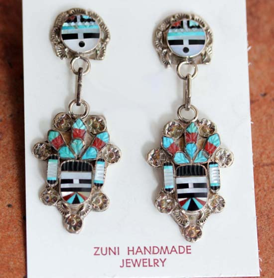 Zuni Silver Sunface Earrings