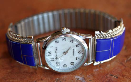 Navajo Silver Lapis Men's Watch