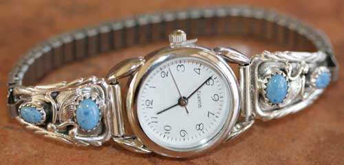 Navajo Denim Lapis Ladies Watch by Robert Brown