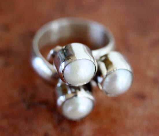 Nakai Navajo Natural Freshwater Pearl Ring Size 8