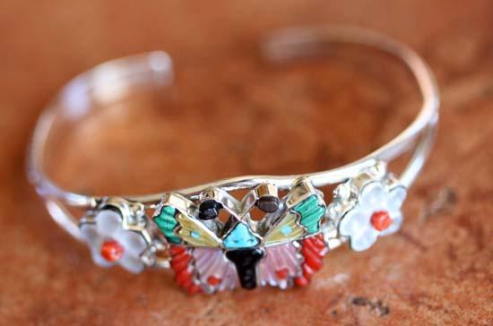 Zuni Sterling Butterfly Bracelet
