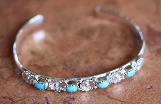 Navajo Silver Turquoise Bracelet
