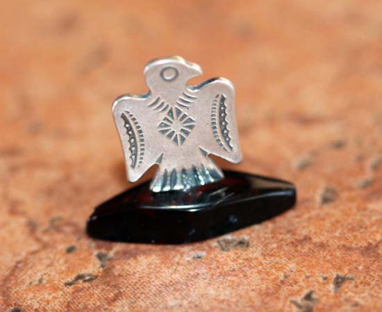 Sterling Silver Baltic Amber Eagle