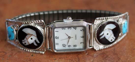 Zuni Multi_Stone Inlay Men's Watch