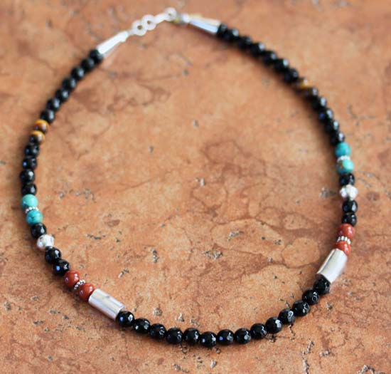 Navajo Charoite Beaded Necklace By T Singer