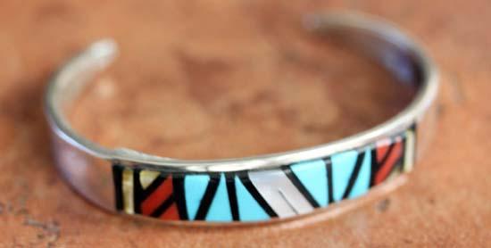 Zuni Silver Multi_Stone Bracelet