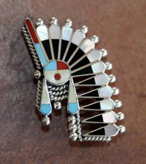 Zuni Pin/Pendant by Doris Small Canyon