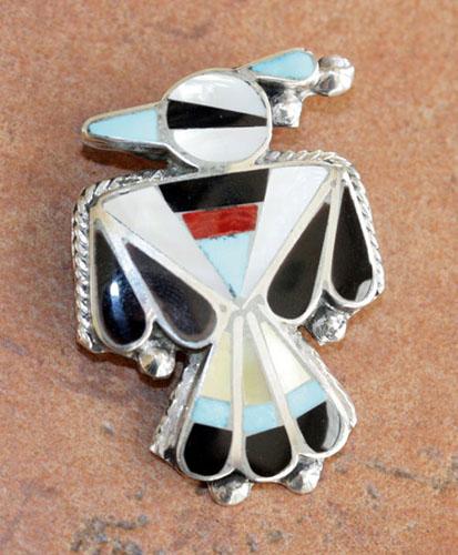 Zuni Multi_Stone Pin/Pendant by D Callisa