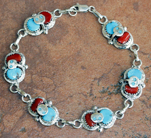 Zuni Indian Link Bracelet by Effie Calavaza
