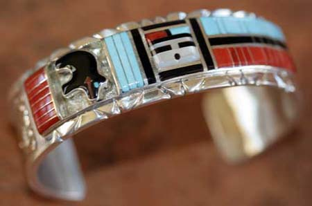 Zuni Sunface Bracelet by Don Dewa
