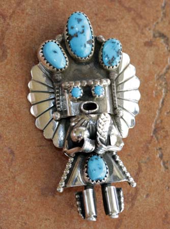 Navajo Kachina Pin/Pendant by Doris Small Canyon